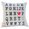Διακοσμητικό μαξιλάρι καναπέ 50Χ50 δύο όψεων - Γράμματα 015