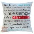Διακοσμητικό μαξιλάρι καναπέ 50Χ50 δύο όψεων - Νότες 017