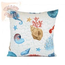 Διακοσμητικό μαξιλάρι (μαξιλαροθήκη) 45X45 - Kοράλλια 015