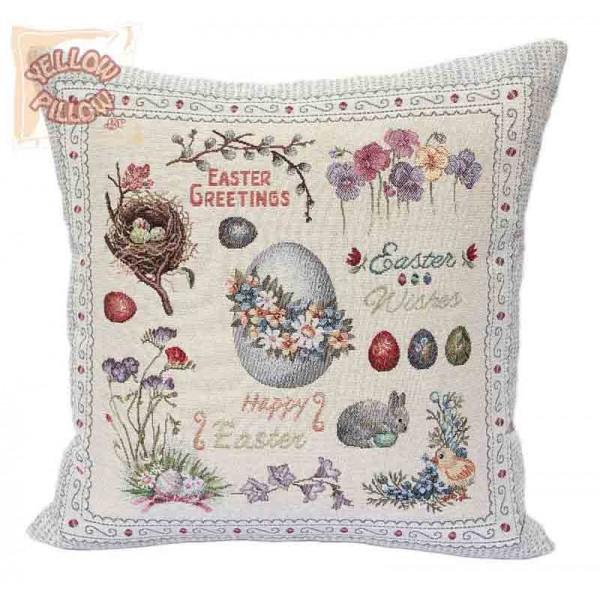 Διακοσμητικό μαξιλάρι καναπέ ταπισερί 45X45 - Πασχαλινό 010