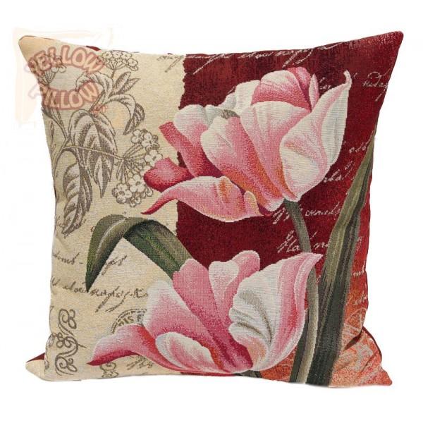 Διακοσμητικό μαξιλάρι ταπισερί-στόφα - Λουλούδια 023