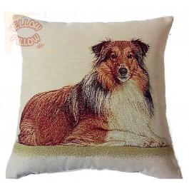 Διακοσμητικό μαξιλάρι ταπισερί-στόφα - Σκύλος KόλεΪ 012