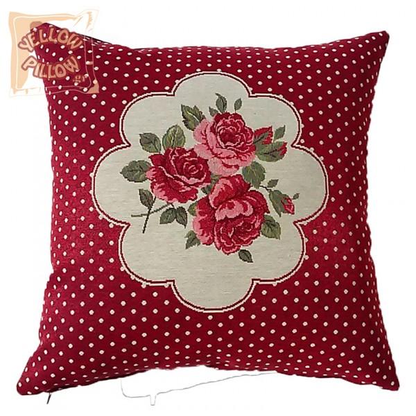Διακοσμητικό μαξιλάρι ταπισερί-στόφα - Τριαντάφυλλα 020