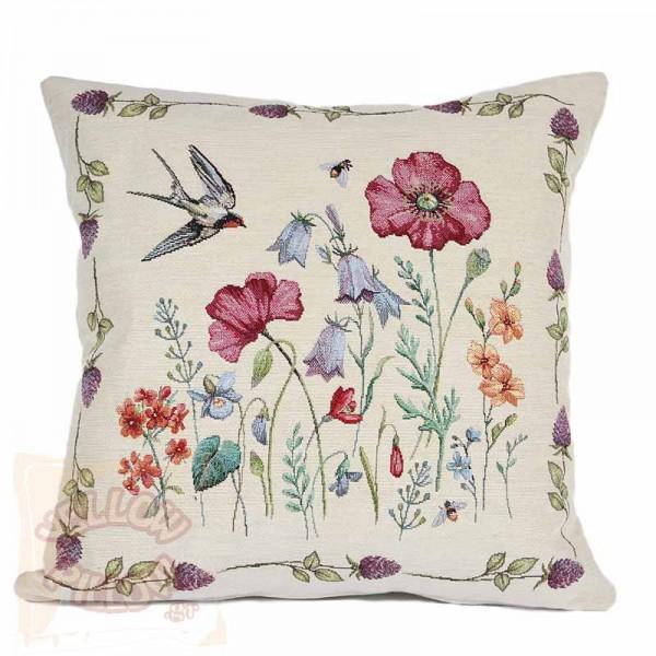 Διακοσμητικό μαξιλάρι καναπέ 45Χ45 ταπισερί με λουλούδια - 016