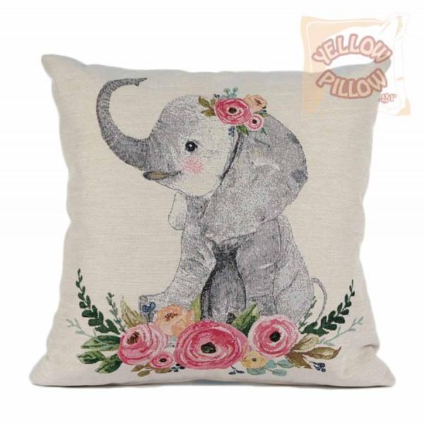 Διακοσμητικό μαξιλάρι καναπέ στόφα 45X45 - Ελεφαντάκι 010