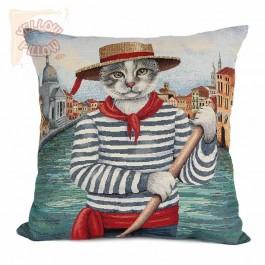 Διακοσμητικό μαξιλάρι καναπέ 45Χ45 ταπισερί - Γάτος 035