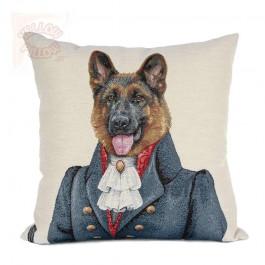 Διακοσμητικό μαξιλάρι καναπέ ταπισερί 45X45 - Λυκόσκυλο 025