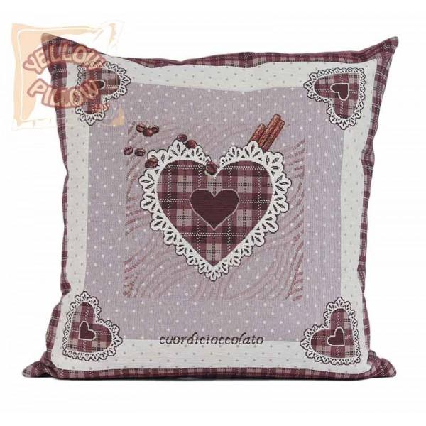 Διακοσμητικό μαξιλάρι στόφα - ταπισερί 45X45 - Choco Heart