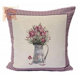 Διακοσμητικό μαξιλάρι καναπέ ταπισερί 55X55 - Ανεμώνες 011