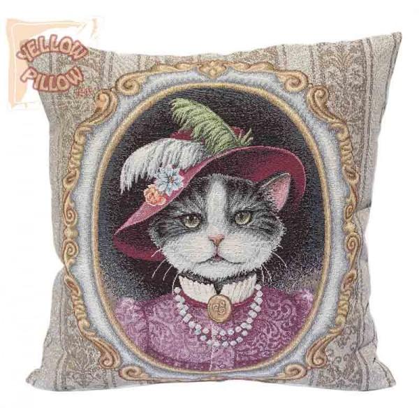 Διακοσμητική μαξιλαροθήκη ταπισερί 45X45 - Γάτα 041