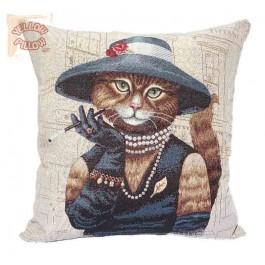 Διακοσμητική μαξιλαροθήκη ταπισερί 45X45 - Γάτα 042