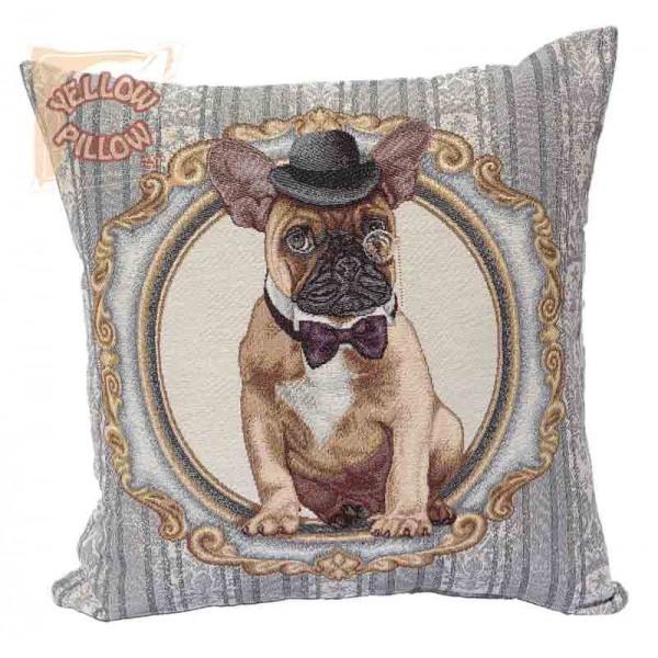 Διακοσμητικό μαξιλάρι καναπέ ταπισερί 45X45 - Μπουλντόγκ 014