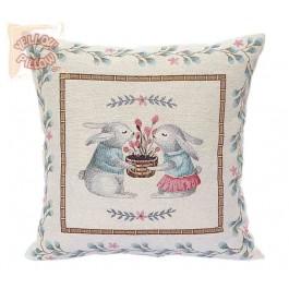 Διακοσμητικό μαξιλάρι καναπέ ταπισερί 45X45 - Kουνελάκια 011