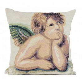 Διακοσμητικό μαξιλάρι υπνοδώματίου ταπισερί 45X45 - Αγγελάκι 004