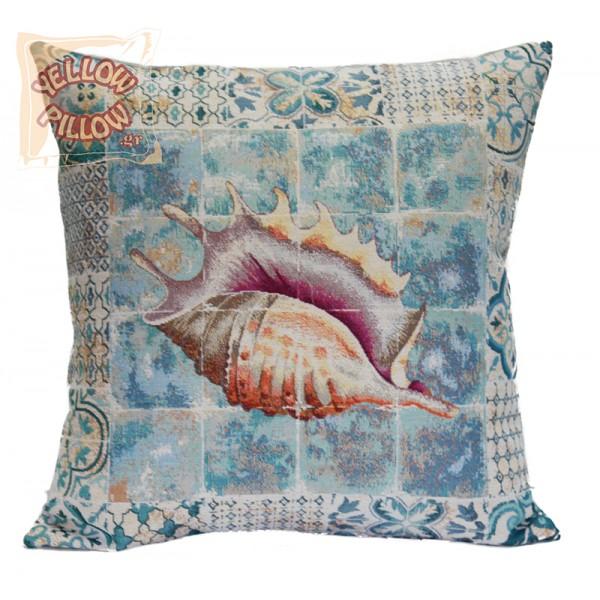 Διακοσμητικό μαξιλάρι ταπισερί-στόφα - Κοχύλι 011