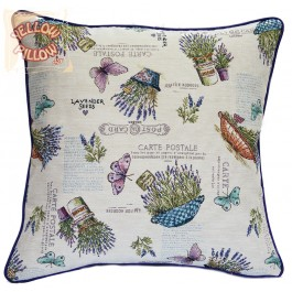 Διακοσμητικό μαξιλάρι ταπισερί-στόφα - Λεβάντες 021