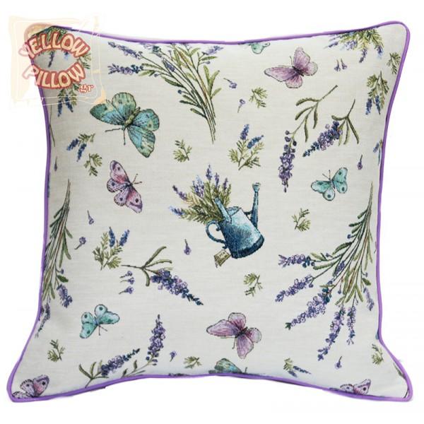 Διακοσμητικό μαξιλάρι ταπισερί-στόφα - Λεβάντες 022