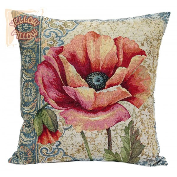 Διακοσμητικό μαξιλάρι ταπισερί-στόφα - Λουλούδια 022