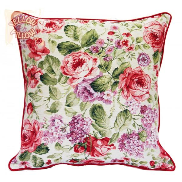 Διακοσμητικό μαξιλάρι ταπισερί-στόφα - Τριαντάφυλλα 024
