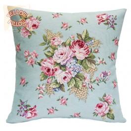 Διακοσμητικό μαξιλάρι ταπισερί-στόφα - Τριαντάφυλλα 025