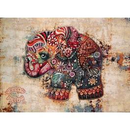 Πάντα τοίχου έθνικ ταπισερί 88Χ64 - Ελέφαντας 014