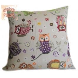 Διακοσμητικό μαξιλάρι στόφα - Κουκουβάγιες