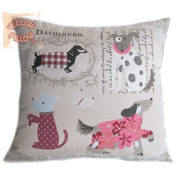 Διακοσμητικό μαξιλάρι στόφα- Σκυλάκια 011