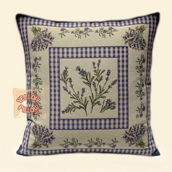 Διακοσμητικό μαξιλάρι  ταπισερί  με Λεβάντες