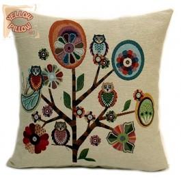 Διακοσμητικό μαξιλάρι στόφα με λουλούδια - Spring 023
