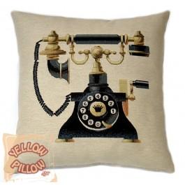 Διακοσμητικό μαξιλάρι ταπισερί  - Τηλέφωνο αντίκα  01