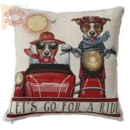 Διακοσμητικό μαξιλάρι ταπισερί -Lets go for a ride