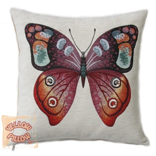 Διακοσμητικό μαξιλάρι ταπισερί-στόφα - Πεταλούδα 005