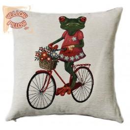Διακοσμητικό μαξιλάρι ταπισερί - Ποδήλατο