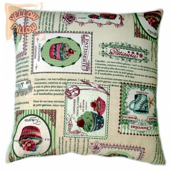 Διακοσμητικό μαξιλάρι καναπέ - Cupcakes Pink 008