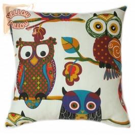 Διακοσμητικό μαξιλάρι καναπέ - Κουκουβάγιες 005