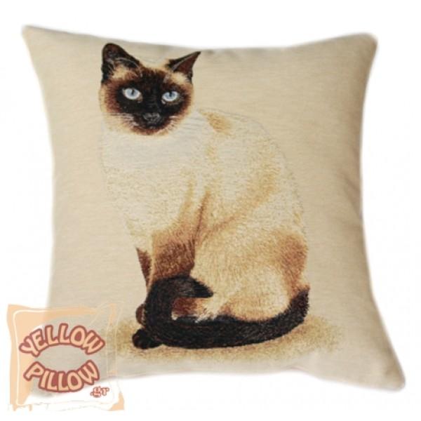 Διακοσμητικό μαξιλάρι ταπισερί - Γάτα 01
