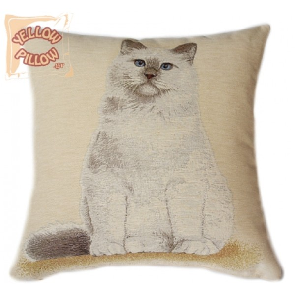 Διακοσμητικό μαξιλάρι ταπισερί - Γάτα  02