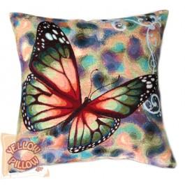 Διακοσμητικό μαξιλάρι ταπισερί - Πεταλούδα 01