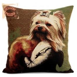 Διακοσμητικό μαξιλάρι ταπισερί με σκυλάκι - Duke