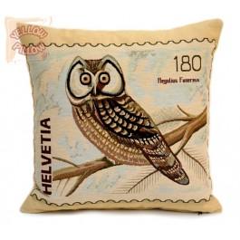 Διακοσμητικό μαξιλάρι ταπισερί  με κουκουβάγια - Stamp 02