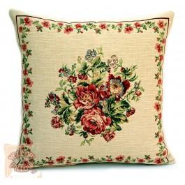 Διακοσμητικό μαξιλάρι ταπισερί με λουλούδια - Roses 02
