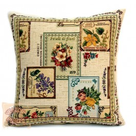 Διακοσμητικό μαξιλάρι ταπισερί με λουλούδια - Flower Garden 01