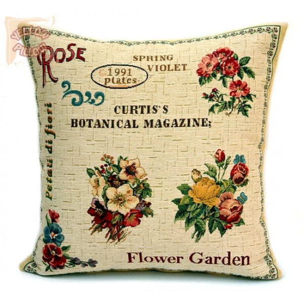Διακοσμητικό μαξιλάρι ταπισερί με λουλούδια - Flower Garden 02