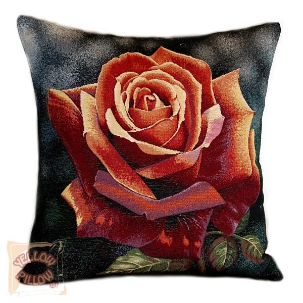Διακοσμητικό μαξιλάρι ταπισερί-στόφα - Τριαντάφυλλο 009