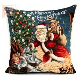 Χριστουγεννιάτικο μαξιλάρι με τον Αγιο Βασίλη - 011